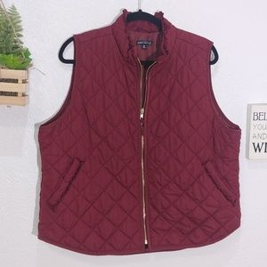 J.crew Mercantile Ruffle quilted puffer vest  2X